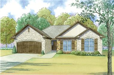 3-Bedroom, 1745 Sq Ft Craftsman House - Plan #193-1042 - Front Exterior