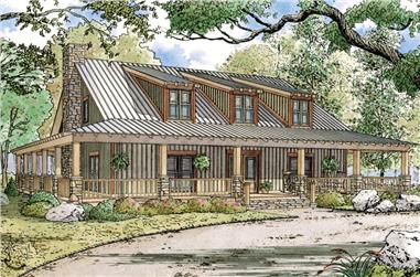 4-Bedroom, 3380 Sq Ft Country Home – Plan #193-1046 - Main Exterior