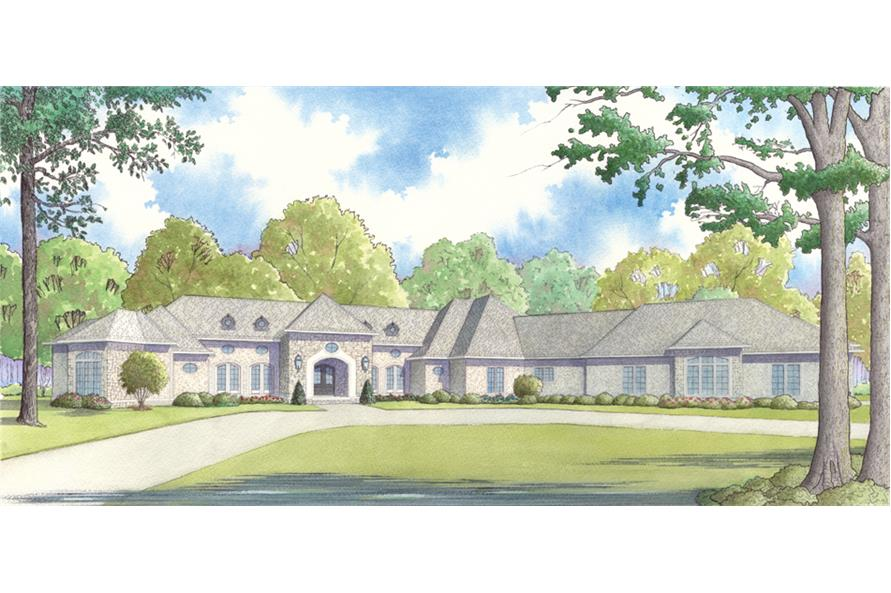 Home Plan Rendering of this 4-Bedroom,6554 Sq Ft Plan -193-1048