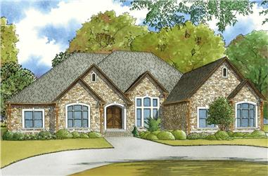 3-Bedroom, 3765 Sq Ft European Home - Plan #193-1050 - Main Exterior