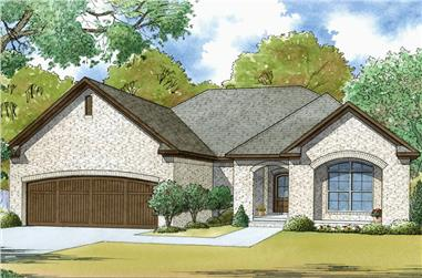 3-Bedroom, 1417 Sq Ft Traditional Home Plan - 193-1051 - Main Exterior