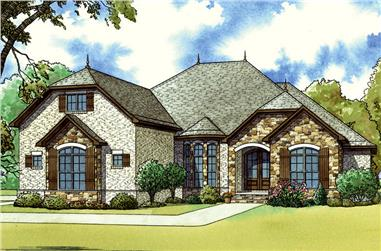 3-Bedroom, 2275 Sq Ft French House - Plan #193-1052 - Front Exterior
