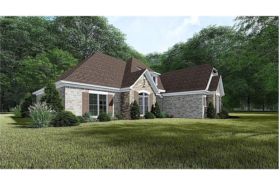 Left View of this 4-Bedroom,1901 Sq Ft Plan -193-1054