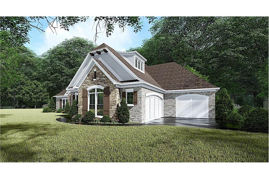 Right View of this 4-Bedroom,1901 Sq Ft Plan -193-1054