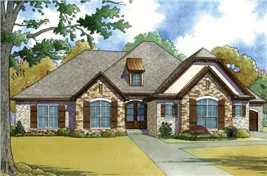 4-Bedroom, 1901 Sq Ft French Home - Plan #193-1054 - Front Exterior