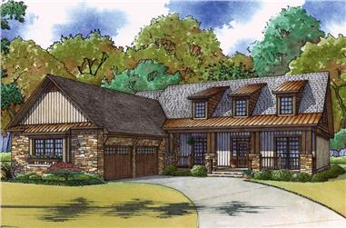 4-Bedroom, 2464 Sq Ft Country House - Plan #193-1057 - Front Exterior