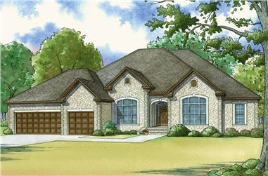 5-Bedroom, 3264 Sq Ft Traditional House - Plan #193-1059 - Front Exterior