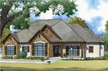 3-Bedroom, 2199 Sq Ft Traditional House - Plan #193-1060 - Front Exterior