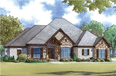 4-Bedroom, 2556 Sq Ft European Home - Plan #193-1063 - Main Exterior
