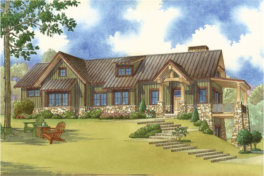 3-Bedroom, 2310 Sq Ft Arts and Crafts Home Plan - 193-1064 - Main Exterior