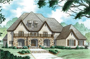 4-Bedroom, 6001 Sq Ft European Home - Plan #193-1065 - Main Exterior