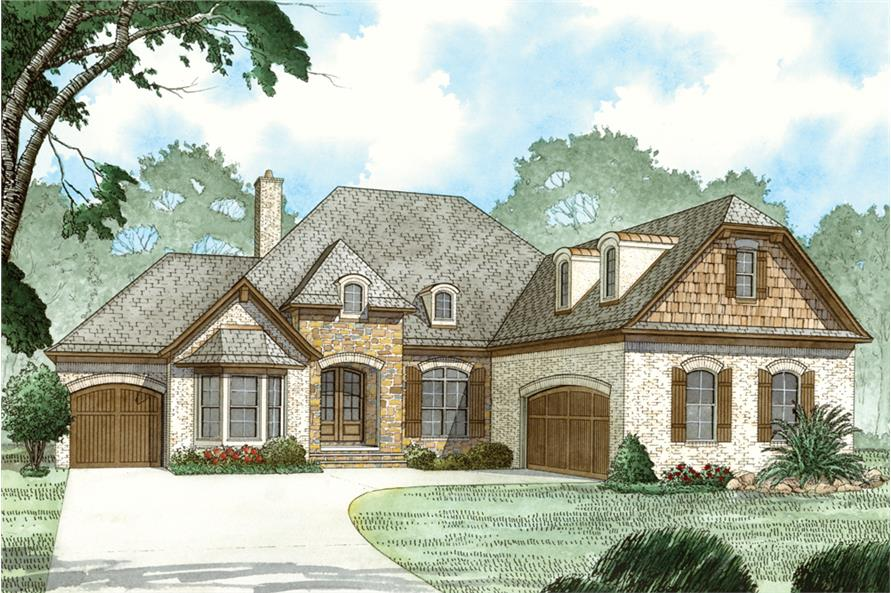 Home Plan Rendering of this 3-Bedroom,2381 Sq Ft Plan -2381