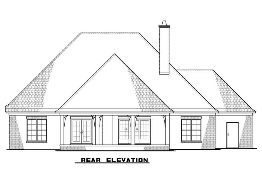 Home Plan Rear Elevation of this 3-Bedroom,2381 Sq Ft Plan -193-1066