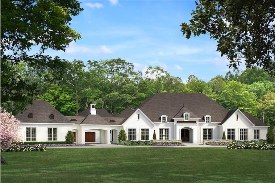 Front View of this 5-Bedroom,5695 Sq Ft Plan -193-1067