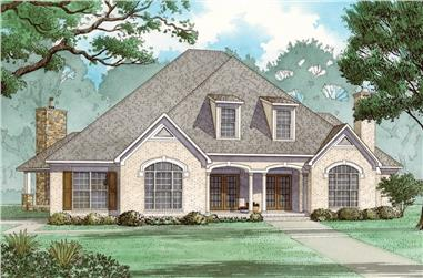 5-Bedroom, 3526 Sq Ft French Home - Plan #193-1068 - Main Exterior