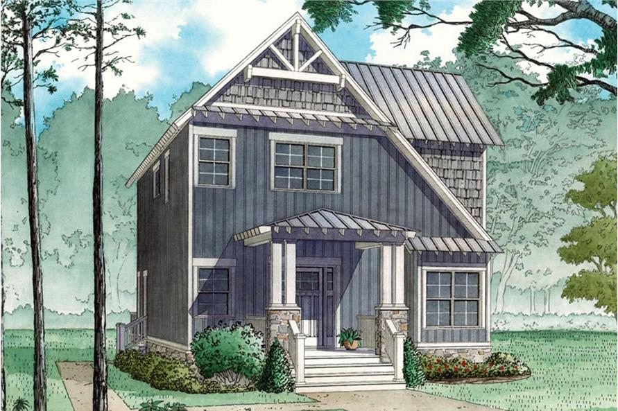 3-Bedroom, 1706 Sq Ft Arts and Crafts House - Plan #193-1070 - Front Exterior
