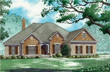 4-Bedroom, 2646 Sq Ft Bungalow House Plan - 193-1071 - Front Exterior