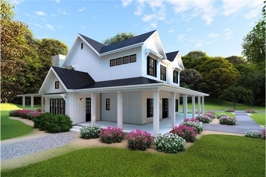 Home Plan 3D Image of this 4-Bedroom,3342 Sq Ft Plan -193-1072