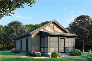 3-Bedroom, 970 Sq Ft Small House- Plans #193-1073 - Front Exterior