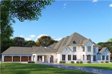 5-Bedroom, 6641 Sq Ft European Home - Plan #193-1074 - Main Exterior