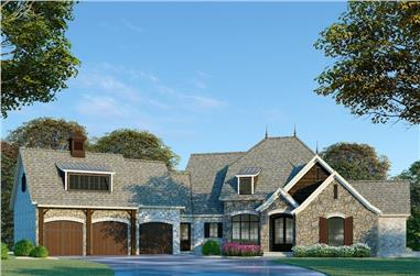 3-Bedroom, 4275 Sq Ft European House Plan - 193-1075 - Front Exterior