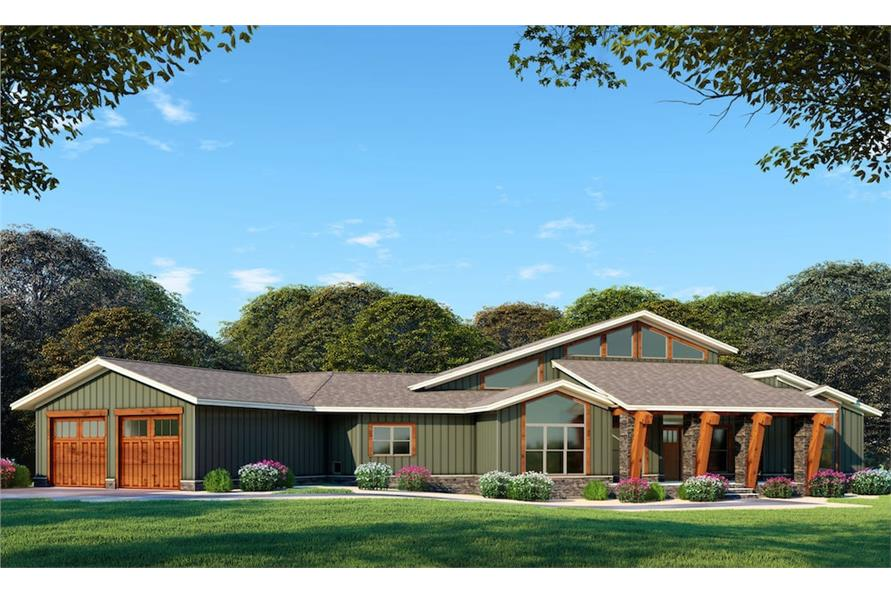 3-Bedroom, 3719 Sq Ft Contemporary House - Plan #193-1076 - Front Exterior