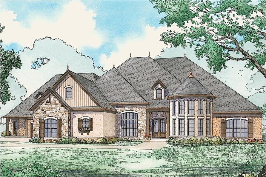 Home Plan Rendering of this 6-Bedroom,5106 Sq Ft Plan -5106