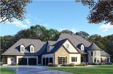 6-Bedroom, 5106 Sq Ft European Home - Plan #193-1077 - Main Exterior