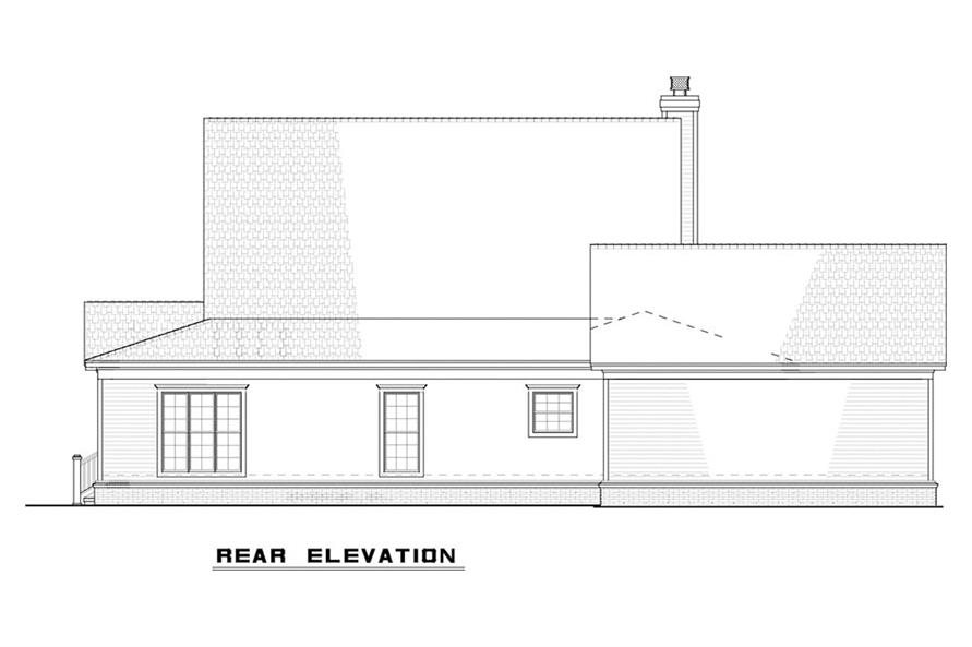 Home Plan Rear Elevation of this 4-Bedroom,2072 Sq Ft Plan -193-1079