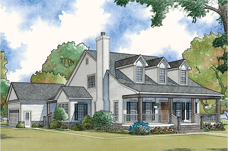 Home Plan Rendering of this 4-Bedroom,2072 Sq Ft Plan -2072