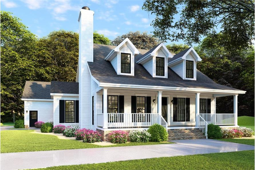 4-Bedroom, 2072 Sq Ft Ranch House - Plan #193-1079 - Front Exterior