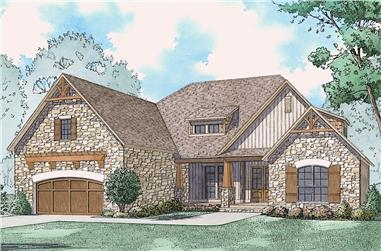 Front elevation of Rustic home (ThePlanCollection: House Plan #193-1080)