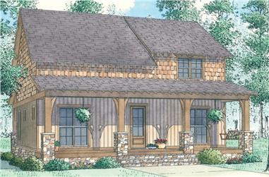 Front elevation of Country home (ThePlanCollection: House Plan #193-1081)
