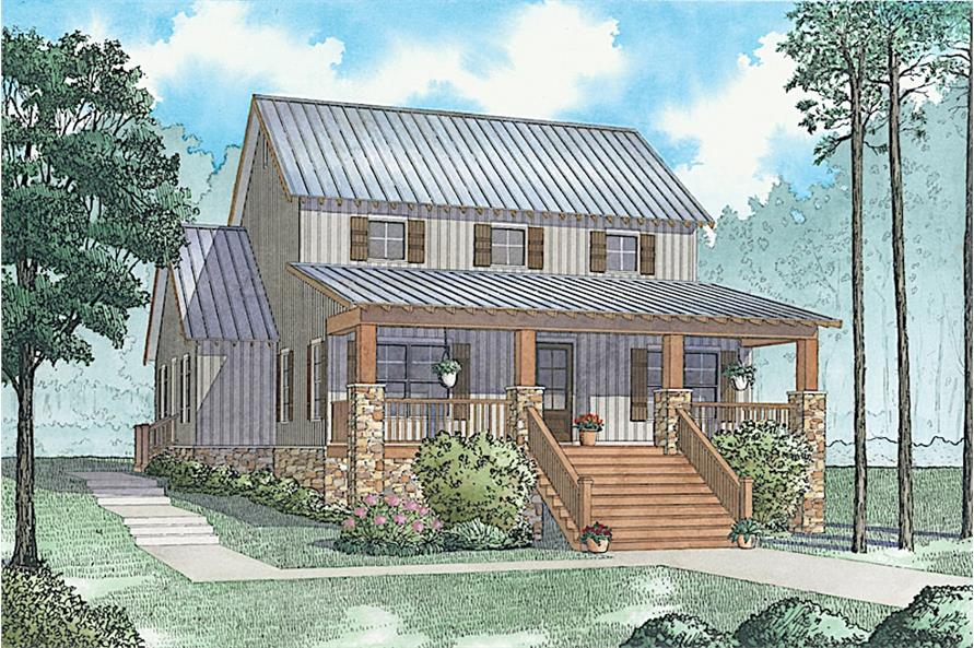 Home Plan Rendering of this 3-Bedroom,2144 Sq Ft Plan -2144