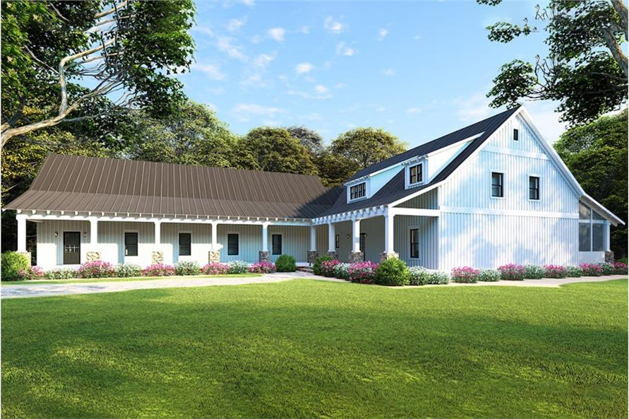 Home Plan Rendering of this 5-Bedroom,2860 Sq Ft Plan -2860