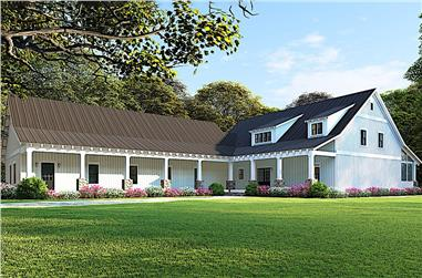 5-Bedroom, 2860 Sq Ft Farmhouse Home - Plan #193-1083 - Main Exterior