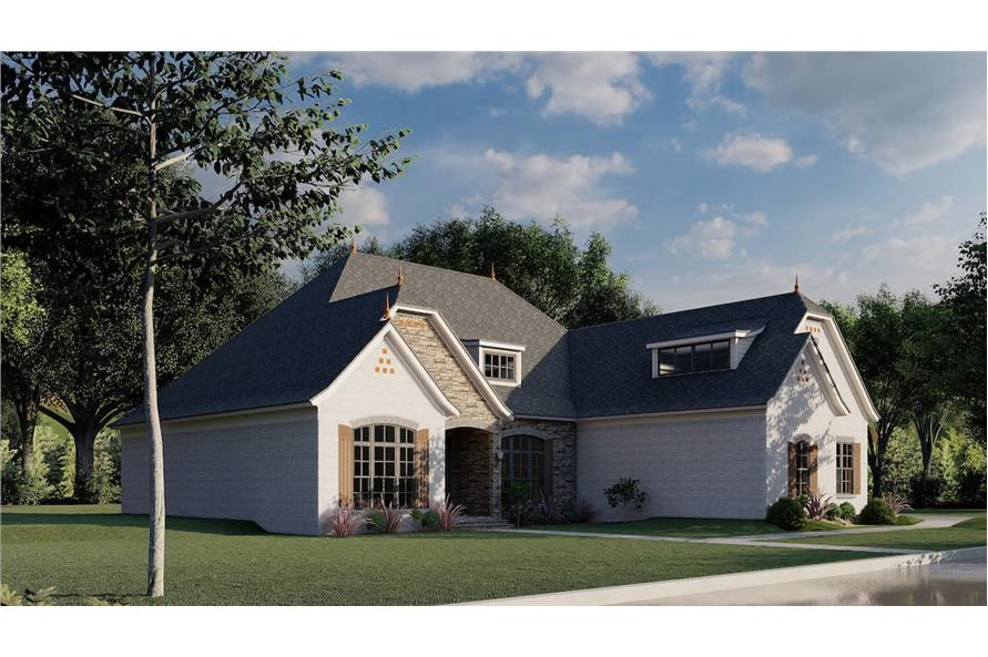 Left View of this 3-Bedroom,2409 Sq Ft Plan -193-1086