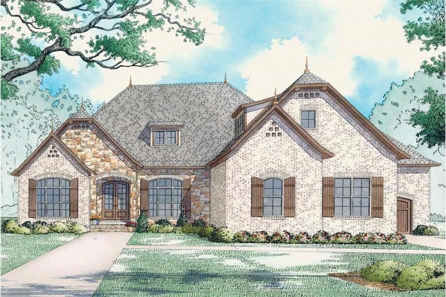 Front View of this 3-Bedroom,2409 Sq Ft Plan -193-1086