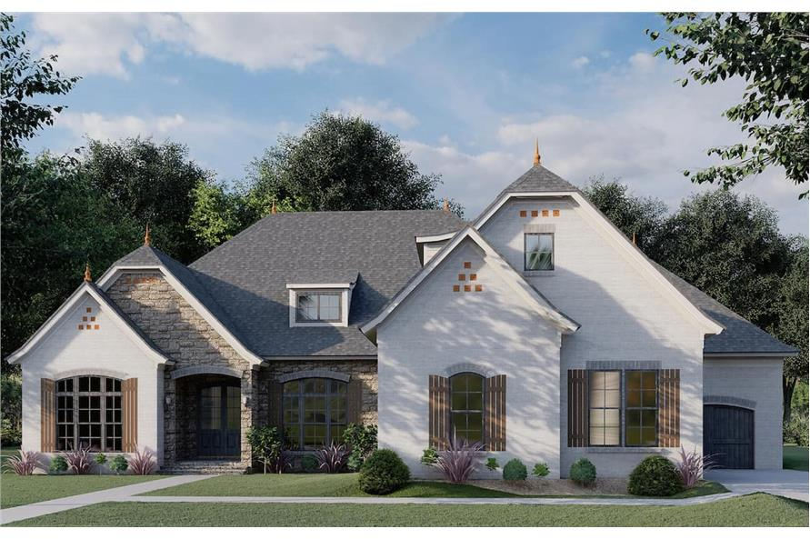 3-Bedroom, 2409 Sq Ft European House - Plan #193-1086 - Front Exterior
