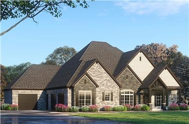 4-Bedroom, 4761 Sq Ft Rustic House - Plan #193-1087 - Front Exterior