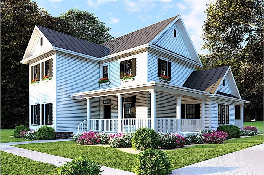 Home Plan Rendering of this 4-Bedroom,2268 Sq Ft Plan -2268
