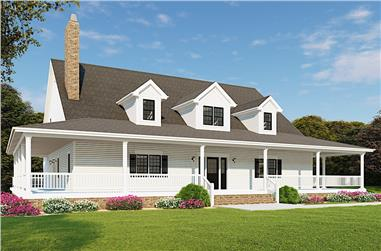 3-Bedroom, 2711 Sq Ft Farmhouse House - Plan #193-1090 - Front Exterior