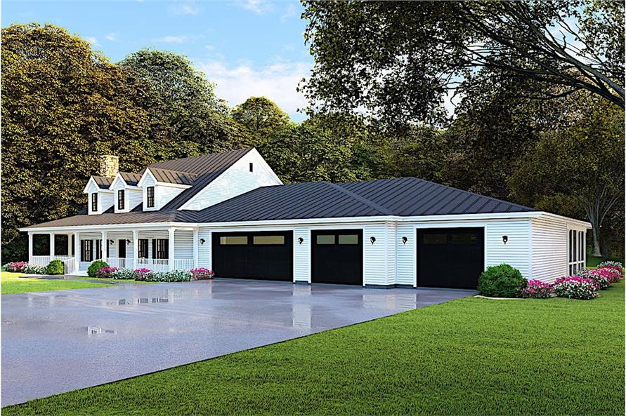 Home Plan Rendering of this 4-Bedroom,3416 Sq Ft Plan -3416