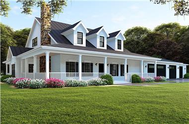 4-Bedroom, 3416 Sq Ft Ranch Home - Plan #193-1091 - Main Exterior