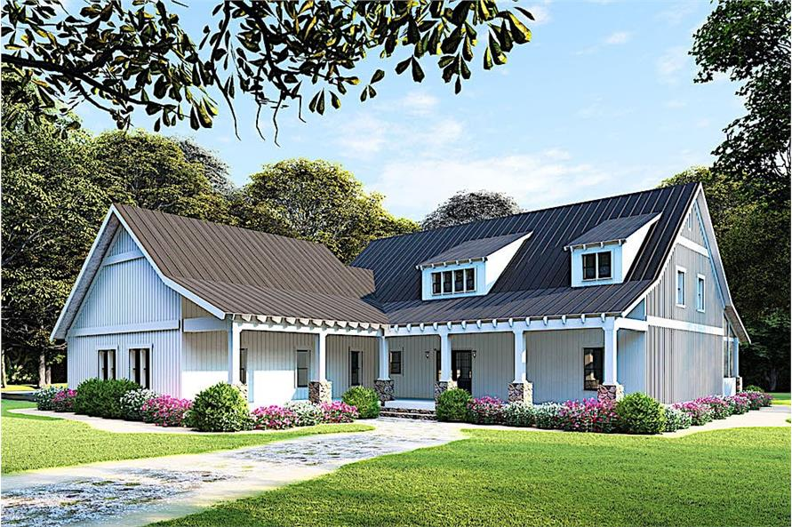 5-Bedroom, 2860 Sq Ft Farmhouse House - Plan #193-1092 - Front Exterior