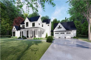 4-Bedroom, 3310 Sq Ft Modern Farmhouse Home - Plan #193-1097 - Main Exterior