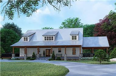 3-Bedroom, 3830 Sq Ft Farmhouse House - Plan #193-1098 - Front Exterior