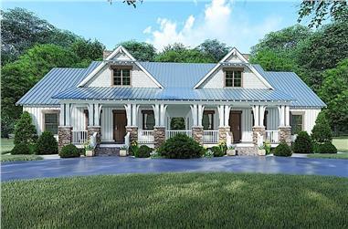 4-Bedroom, 1595 Sq Ft Farmhouse Home - Plan #193-1099 - Main Exterior