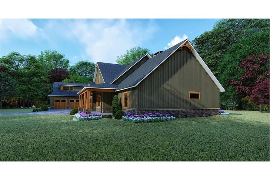Home Plan Rendering of this 4-Bedroom,5098 Sq Ft Plan -5098