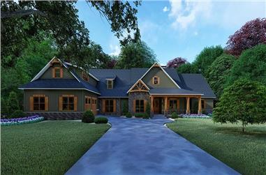 4-Bedroom, 5098 Sq Ft Craftsman House - Plan #193-1101 - Front Exterior